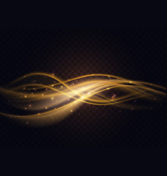 gradient luxury golden color wave abstract light vector image