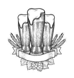 Graphic beer design vector