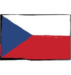 grunge czech republic flag or banner vector image