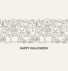 happy halloween banner concept vector image
