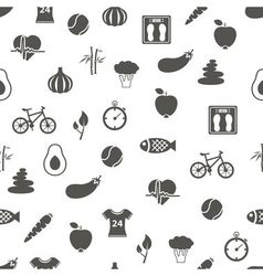 health lifestyle seamless pattern vector image