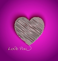Heart shape with I Love You message vector