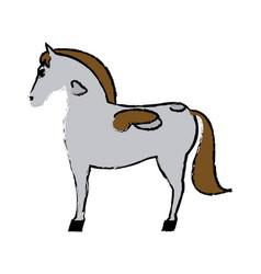 horse mammal farm domestic animal icon vector image