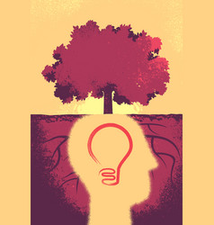 Inventing new ideas for a better tomorrow vector