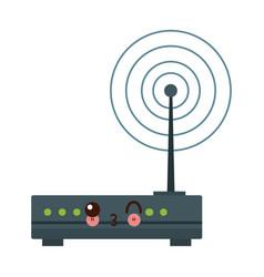 Kawaii wireless network router switch modern vector