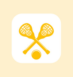 lacrosse icon sign sticks and ball vector image