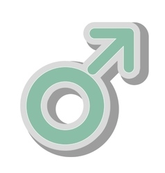 Male gender symbol icon vector