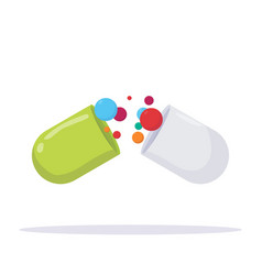 medicine pill with vitamins vector image