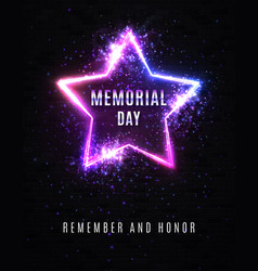 memorial day remember and honor usa background vector image
