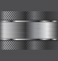 metal background with perforation vector image