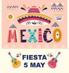 mexican holiday 5 may cinco de mayo vector image