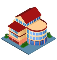 Modern building isometric vector image