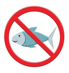 No Fishing Sign vector image