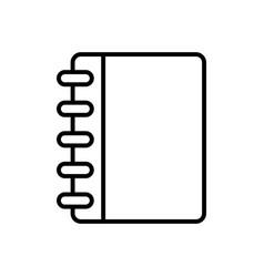 Notebook icon imag vector