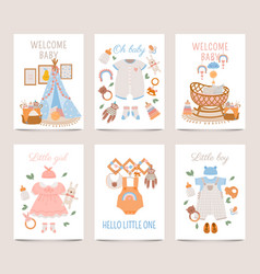 nursery decor posters baby shower cards for boy vector image