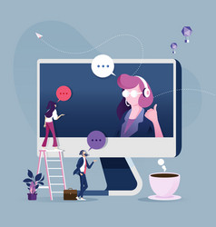 Online customer service concept vector