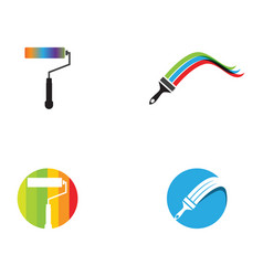 Paint logo template icon vector