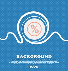 percentage discount sign icon Blue and white vector image