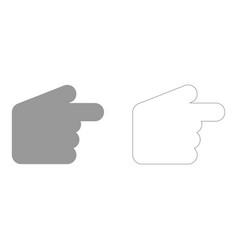 pointer hand set icon vector image
