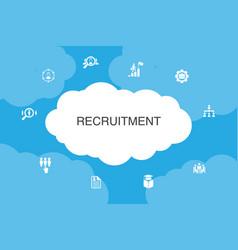 Recruitment infographic cloud design template vector