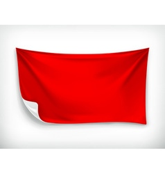 Red cloth banner vector