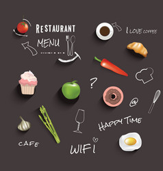 Restaurant or cafe menu design template vin vector