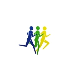 running or jogging people icon vector image