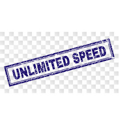 Scratched unlimited speed rectangle stamp vector