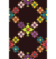 Seamless floral color pattern vector image