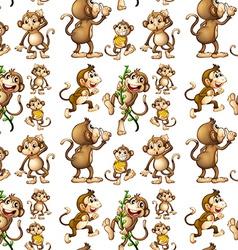 Seamless monkey vector image