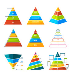 Set different triangles and pyramids vector