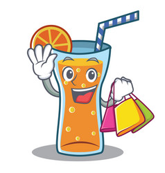 shopping cocktail character cartoon style vector image