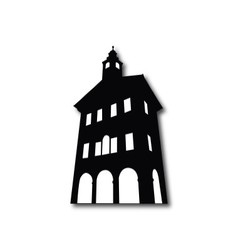 Silhouette of old building vector image