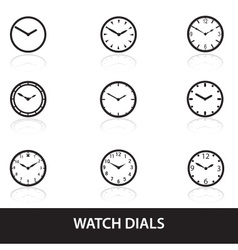 simple watch dials icons eps10 vector image