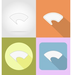 Speech bubbles flat icons 11 vector