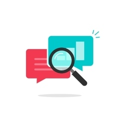 Statistics research icon analysis data vector image