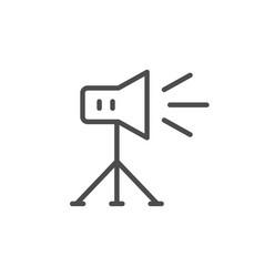 studio lighting line icon vector image