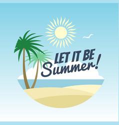 summer vacation logo design - rest background vector image