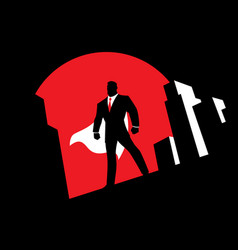 super businessman background symbol vector image