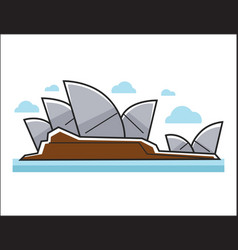Sydney opera house colorful in vector