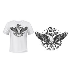 T-shirt print template eagle shooters club vector