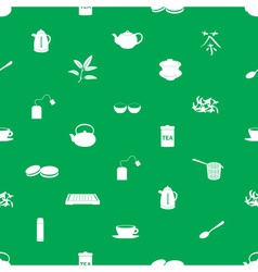 tea icons pattern eps10 vector image
