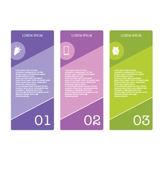 Three infographic banner option illstration vector