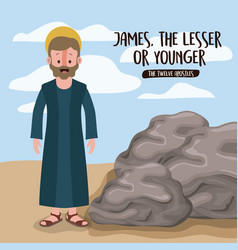Twelve apostles poster with james the lesser vector