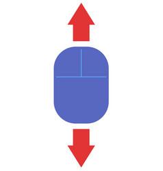 Vertical scroll vector