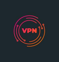 vpn - virtual private network icon simple symbol vector image
