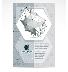 web technologies company booklet cover design 3d vector image