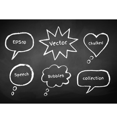 Chalked bubble-talks vector