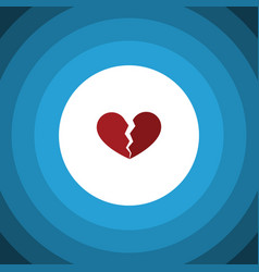 isolated broken heart flat icon divorce vector image