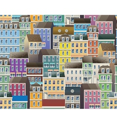 old town pattern vector image